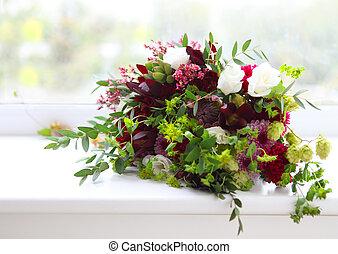 みずみずしい, 珍しい, 花, イチジク, ホツプ, 結婚式, 構成