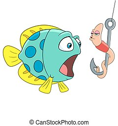 みみず, fish