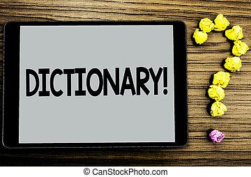 もう1(つ・人), 写真, synonyms, ペーパー, 勉強, vocabs, ビジネス, タブレット, 執筆, 書かれた, 本, 概念, call., スクリーン, ボール, 辞書, 提示, 動機づけである, 手, 背景, 尋ねなさい, 木製である, showcasing