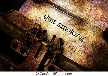 やめられる, タイプライター, 喫煙, テキスト