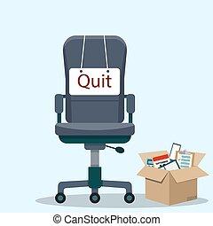 やめられる, 椅子, メッセージ, ビジネス