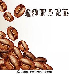 ゆとり, ベクトル, 背景, コーヒー