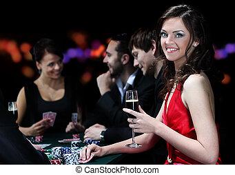 よい, 人々, カジノ, 若い, 持ちなさい, 時間