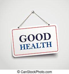 よい, 印, 掛かること, 健康