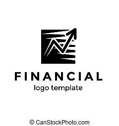 よい, 金融の成功, お金の 記号, イラスト, template., 増加, ベクトル, デザイン, 矢, ロゴ, 進歩, ∥あるいは∥