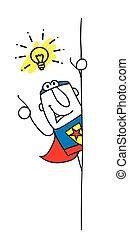 よい, superhero, 考え