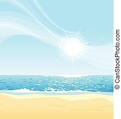 よく晴れた日, 浜, ベクトル