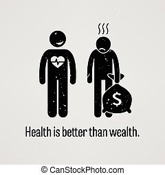 よりよい, 健康, より, 富