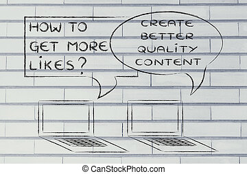 よりよい, 得なさい, likes?, 作成しなさい, 内容, いかに, 品質, もっと