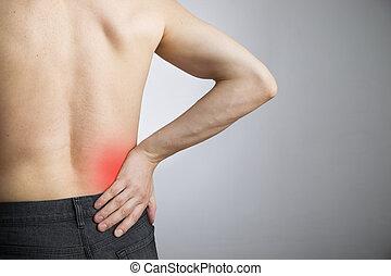 より低い, 男性, 痛み, 背中