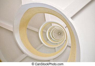 らせん状に動きなさい, 塔, 中国語, 階段, 庭