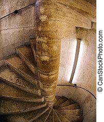 らせん状に動きなさい, 階段, 教会