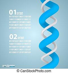 らせん状に動きなさい, infographic, 要素, ∥で∥, 数