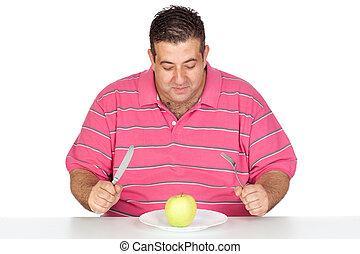 りんごを食べること, 太った男