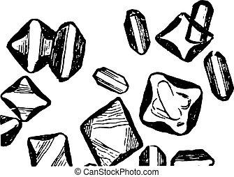 りん酸塩, 型, マグネシウム, engraving.