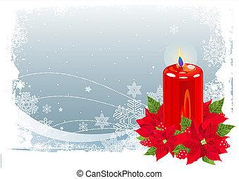 ろうそく, クリスマス, 赤