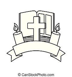 ろうそく, 聖書, 交差点, 神聖