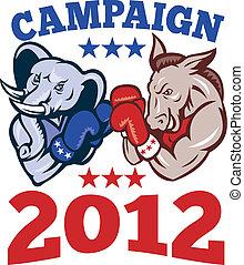 ろば, 共和党員, 象, 民主党員, マスコット