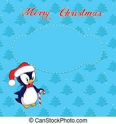 わずかしか, クリスマスカード, ペンギン