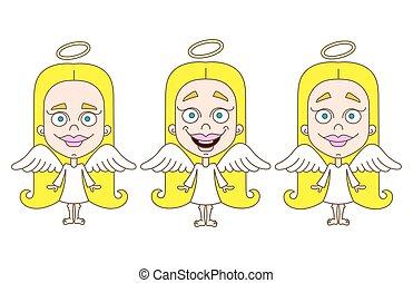 わずかしか, セット, 女の子, 天使