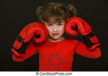 わずかしか, ボクシング用グラブ, 女の子