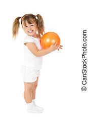 わずかしか, ボール, 微笑の女の子