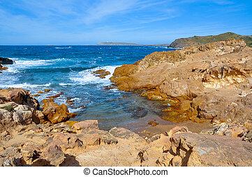 わずかしか, 入り江, 中に, menorca, balearic 島, スペイン