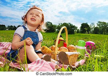 わずかしか, 公園, picnicker
