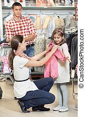 わずかしか, 女性買い物, 女の子, 衣服
