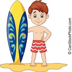 わずかしか, 子供, サーフボード, 保有物, 漫画