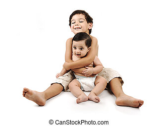 わずかしか, 子供, ∥気をつけ∥の∥, 彼の, 小さい兄弟
