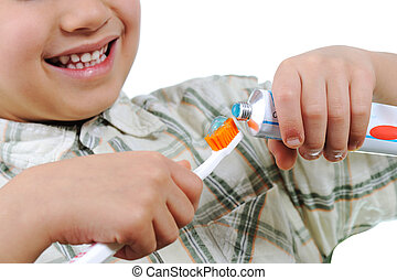 わずかしか, 子供, 準備, ∥ために∥, 歯, ブラシをかけること