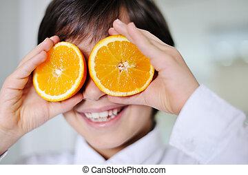 わずかしか, 子供, hplaying, ∥で∥, 新鮮なオレンジ, 成果