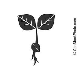 わずかしか, 実生植物, 植物, アイコン