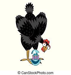 わずかしか, 家, 卵を生む, 簀の目紙, めんどり, 卵