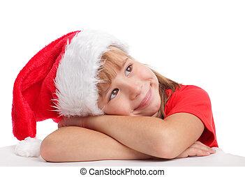 わずかしか, 帽子, クリスマス, 女の子