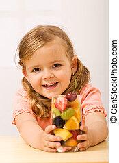 わずかしか, 幸せ, 女の子, 気分転換, fruity