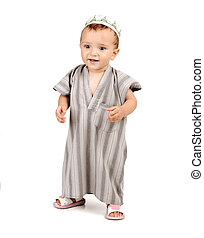 わずかしか, 幸せ, muslim, 子供, 赤ん坊