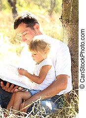 わずかしか, 彼の, 娘, 父, 読む, 聖書