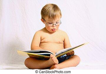 わずかしか, 本, 読書, 男の子