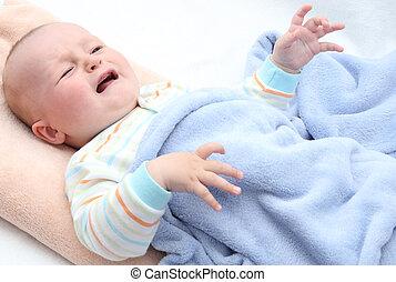 わずかしか, 泣いている赤ん坊