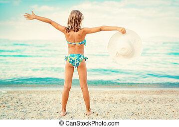 わずかしか, 浜, 女の子