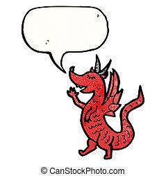 わずかしか, 漫画, 赤, ドラゴン