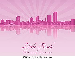わずかしか, 紫色, 放射, スカイライン, 岩, 蘭