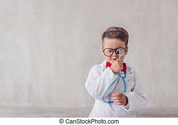 わずかしか, 聴診器, 医者