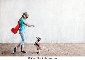 わずかしか, 英雄, 犬
