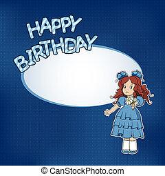 わずかしか, 誕生日の 女の子, カード