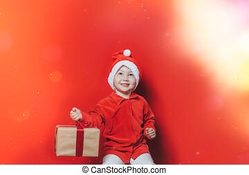 わずかしか, 贈り物, クリスマス, 男の子, 保有物
