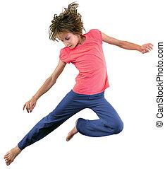 わずかしか, 跳躍, 女の子, ダンス