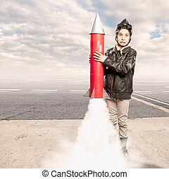 わずかしか, 飛行士, ロケット, 保有物